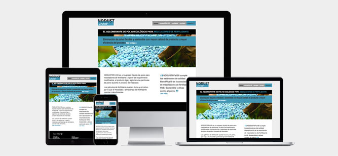 Responsive website Nodust